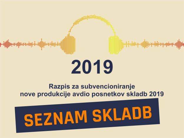 Objavljen seznam skladb prejemnic subvencije za leto 2019
