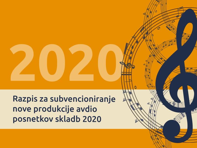 Razpis za subvencioniranje nove produkcije avdio posnetkov skladb 2020