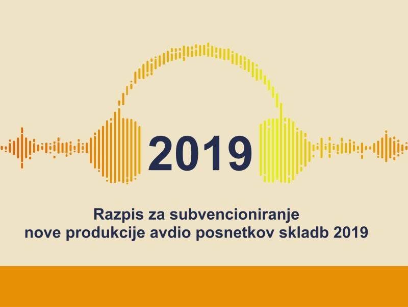 Razpis za subvencioniranje nove produkcije avdio posnetkov skladb 2019